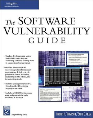 Software Vulnerability Guide (programming Series)