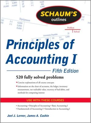 Schaum's Outline of Principles of Accounting I, Fifth Edition (Schaum's Outlines)