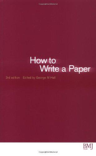 . How to Write a Paper .